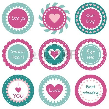 Sweet cupcake toppers with hearts