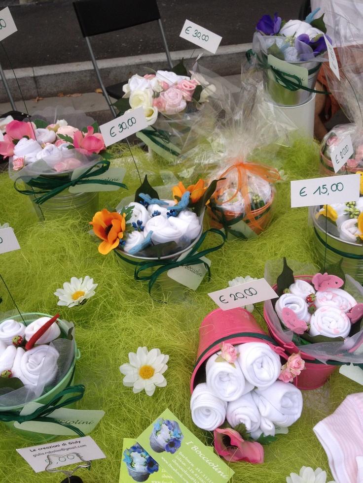 I Bocciolini; bouquet di vestiti per neonati!