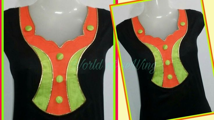 Neck Designs For Suits & Salwars Kameez/Full Cutting & Stitching