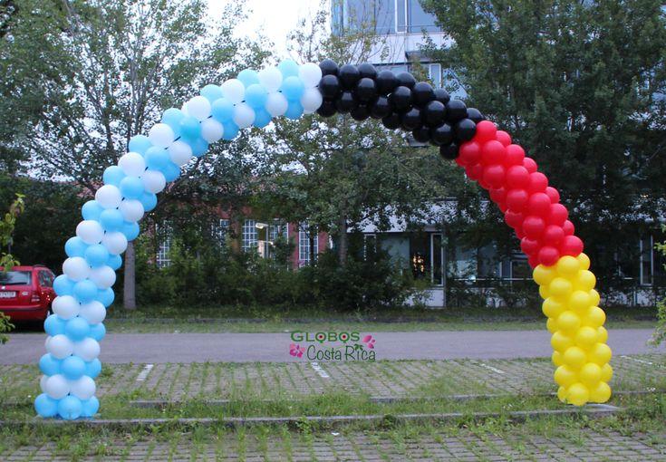 Arco de Globos Fútbol Alemania vs. Argentina  #balloons #Rohrmoser #GlobosCostaRica