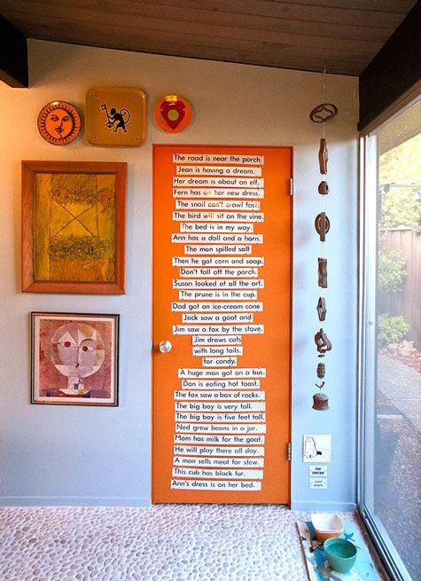 Word Wall Door