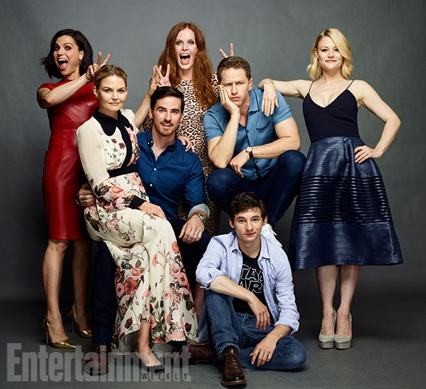 Lana Parrilla, Rebecca Mader, Josh Dallas, Emilie de Ravin, Jared Gilmore, Colin O'Donoghue, and Jennifer Morrison, 'Once Upon a Time' Image Credit: MATTHIAS CLAMER for EW