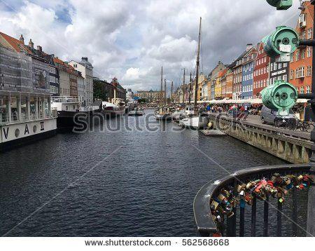 Nyhavn is a 17th-century waterfront, canal and entertainment district - Copenhagen, Denmark/ Copenhagen, Denmark.