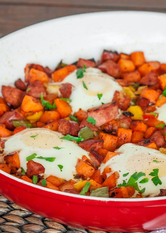 Sweet Potato Hash with Eggs - breakfast of champions #healthy