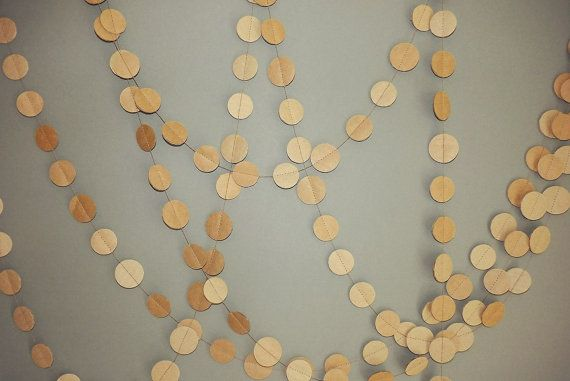 Adorable paper garland for an outdoors wedding party. by MagicWeDo, $8.00