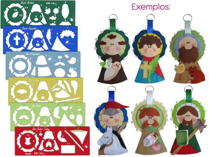 Kit Réguas para Confecção de Chaveiros Santinhos - Coleção Chrys Altran  https://alecria.com.br/moldes/kit-reguas-para-confecc-o-de-chaveiros-colec-o-chrys-altran