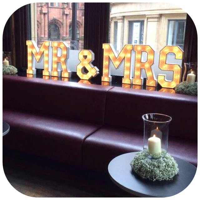 Introducing our new Table Top Little Letters we currently have Mr & Mrs, Mr & Mr, Mrs & Mrs, Love. Hire these little letters with any of our large letters. Illuminated letters, marquee letters, light up letters.