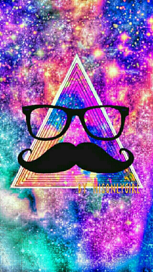 Hipster moustache galaxy wallpaper I created for the app CocoPPa