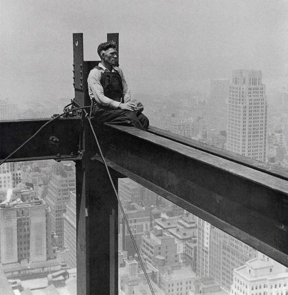 Taking a break during construction of the Empire State Building