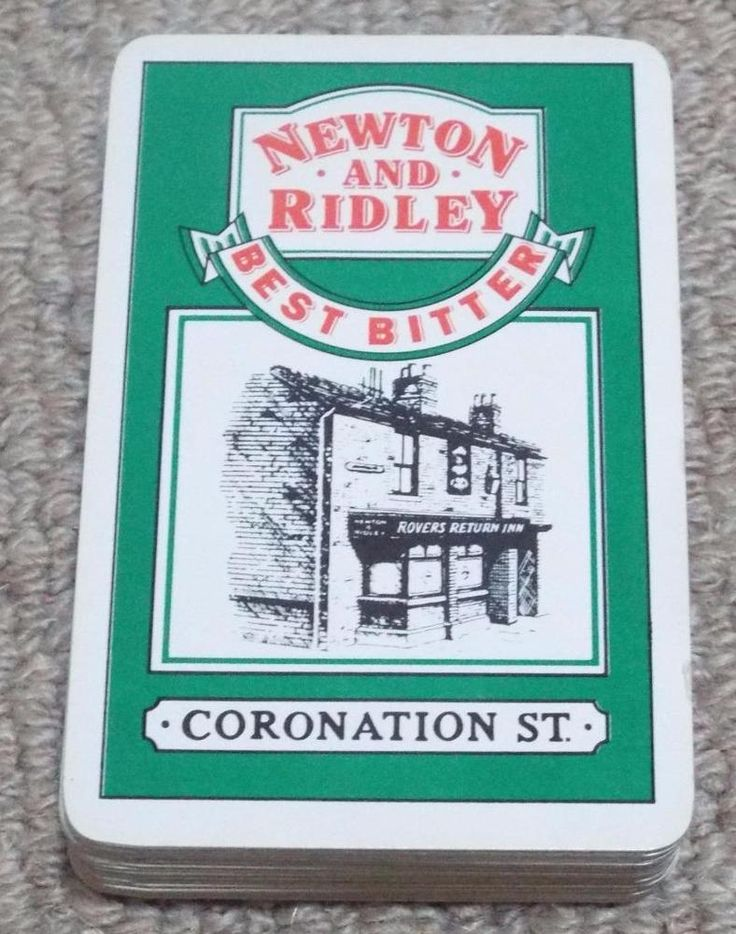 NEWTON & RIDLEY - CORONATION STREET PACK OF PLAYING CARDS