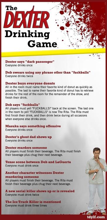 Dexter drinking game