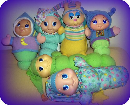 Glow Worms, my sister loved hers do much. I bought one for my daughter. She didn't take to it as much.