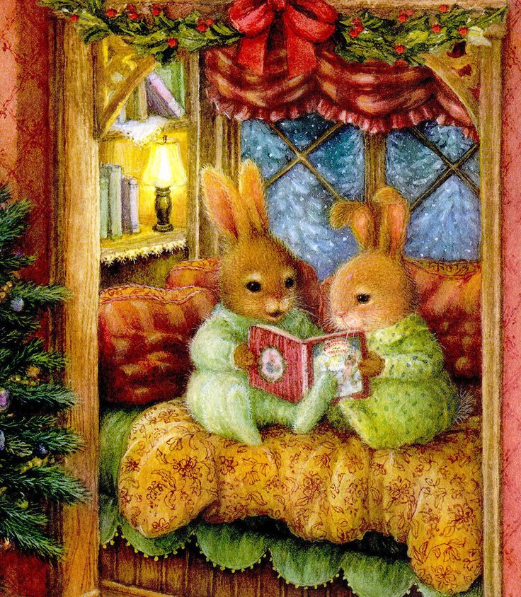 Bunnies reading: