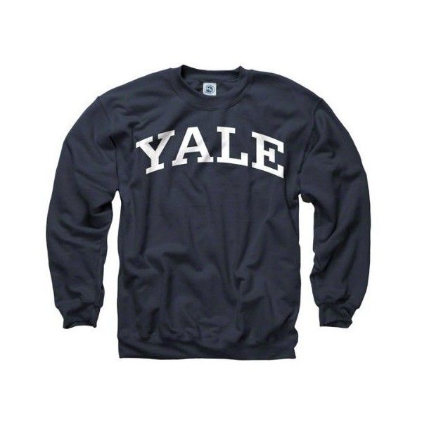 Amazon.com: Yale Bulldogs Navy Arch Crewneck Sweatshirt: Sports &... ($32) ❤ liked on Polyvore