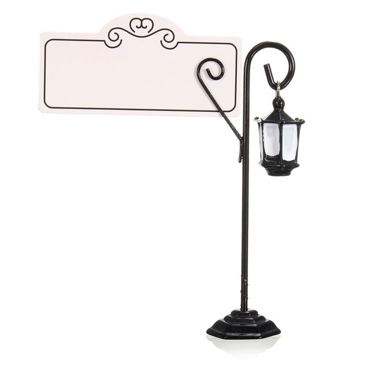 1 Pcs Metal Streetlight Pattern Wedding Place Name Card Holder Party Gift Accessories
