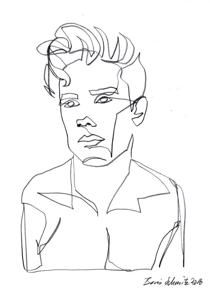 """Gaze 459"", continuous line drawing by Boris Schmitz"