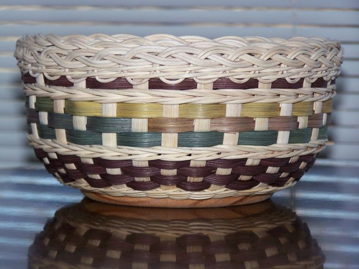 Tava's Basket.  This is a basket I designed and wove for my daughter-in-law.