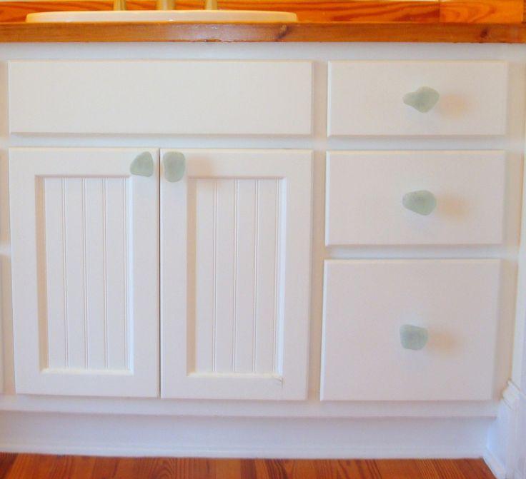 Beach Decor Recycled Glass Cabinet Knob Drawer Pull 19 99 Via Etsy