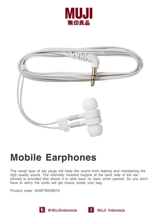 [Mobile Earphones] Magnet at the back side of the earphones allows it to stick back-to-back when packed.