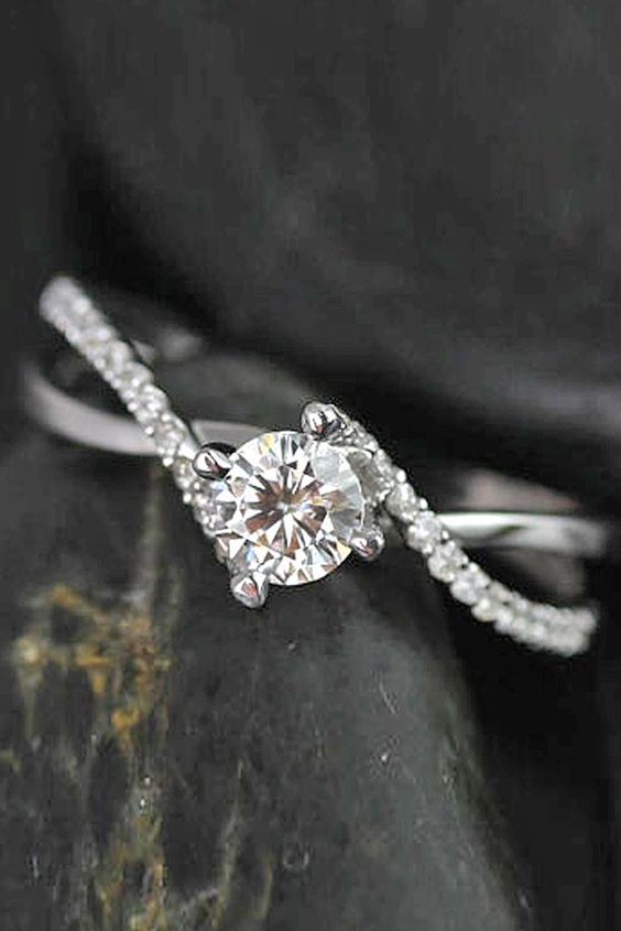 simple white gold engagement rings 2