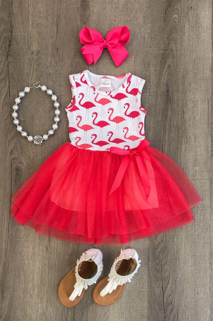 Pink Flamingo Tutu Dress