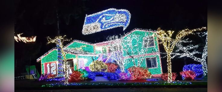 "PHOTO: Tony Mish received a warning on Dec. 1, 2015 from the city of Kirkland regarding complaints about his Seattle Seahawks Christmas display known as ""Hawk House."""