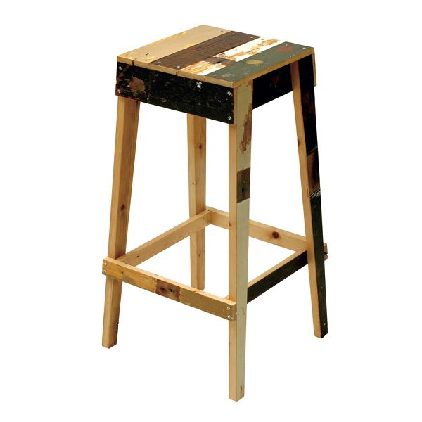 Scrap wood bar stool