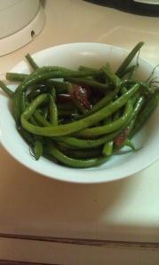 vegan Arkansas green beans