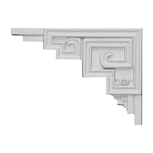 The Austin Urethane Stair Bracket will add the finishing touch to stair systems and tie your room together. Made from high density urethane foam, they look like a traditional plaster stair bracket, but are weather and insect resistant.  #RestorersArchitectural #Urethane #StairBracket #VanDykes #WhiteAndBright