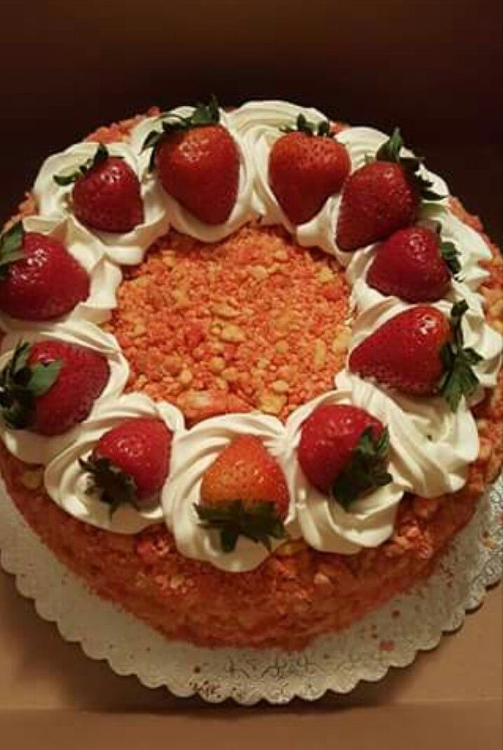 Strawberry crunch cake                                                                                                                                                                                 More