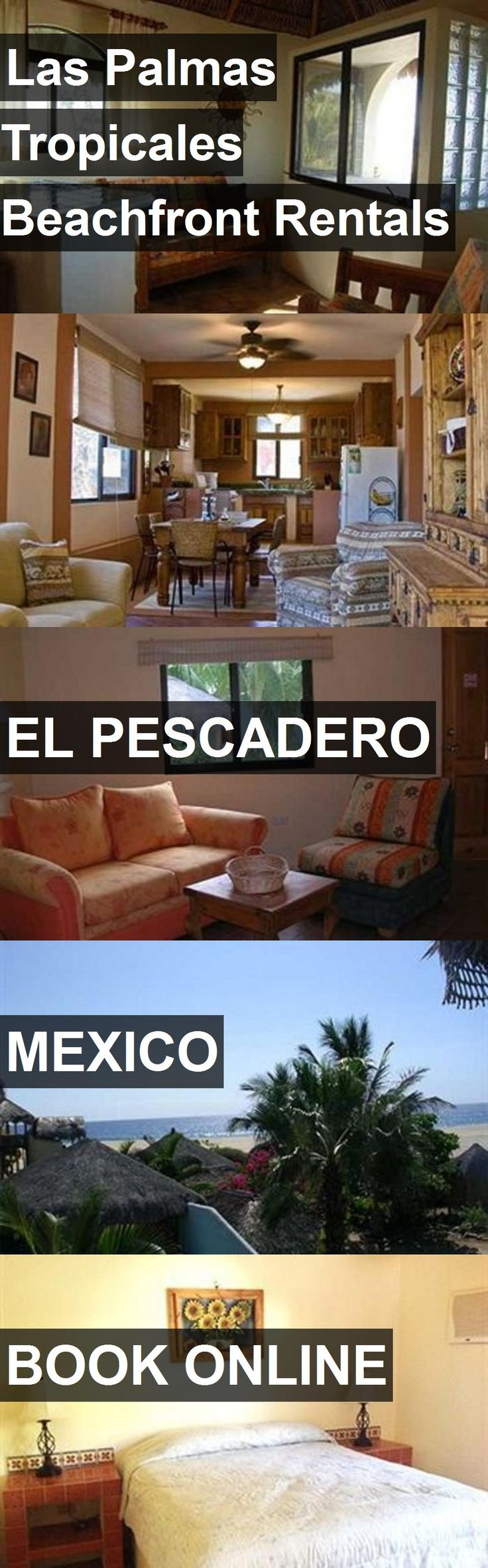 Hotel Las Palmas Tropicales Beachfront Rentals in El Pescadero, Mexico. For more information, photos, reviews and best prices please follow the link. #Mexico #ElPescadero #travel #vacation #hotel