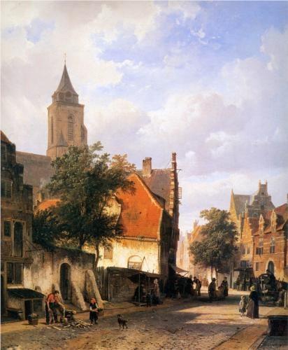 Zaltbommel (Betuwe) - schilderij Cornelis Springer