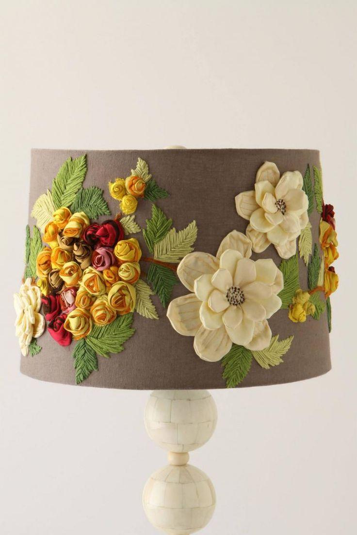 Цветы в интерьере. Часть первая. Декор абажура - Ярмарка Мастеров - ручная работа, handmade