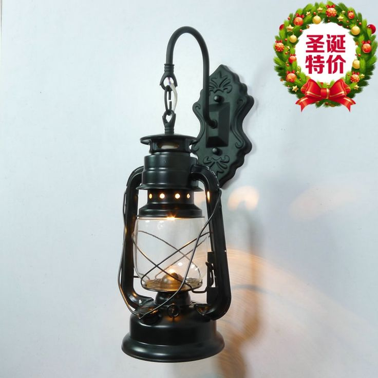Yan Xi Home Furnishing jewelry retro kerosene lamp glass lamp iron lantern camping lamp lantern nostalgic alcohol lamp