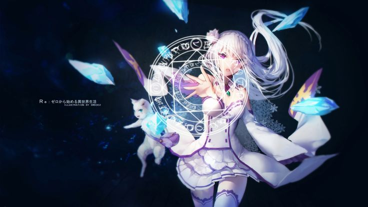 Re Zero Emilia 1080p 60fps With Bgm Wallpaper Engine Anime Anime Top 5 Anime Anime Wallpaper