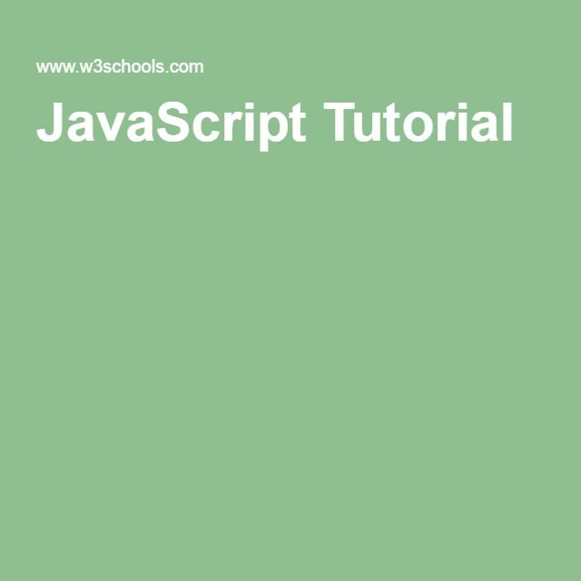 W3schools Javascript Tutorial Pdf