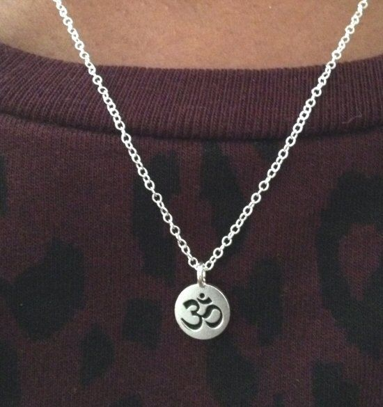 Silver Ohm Om Necklace