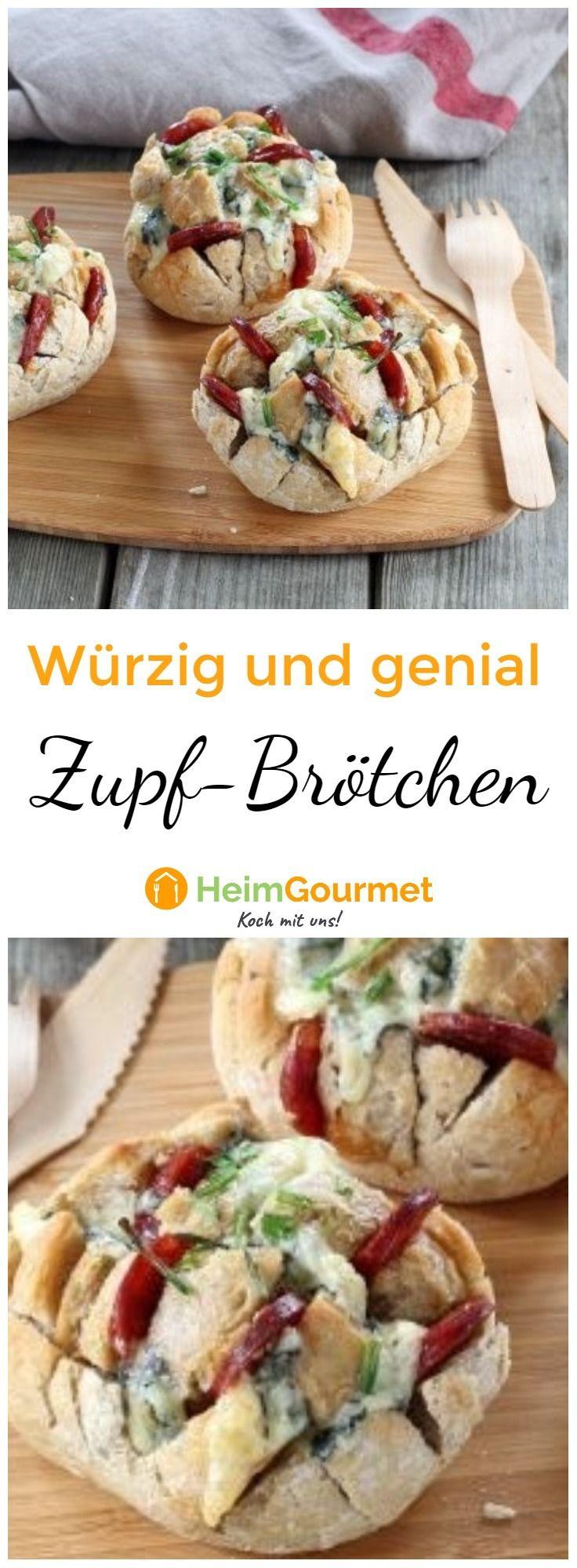 Genial: Würzige Zupf- Brötchen mit Käse