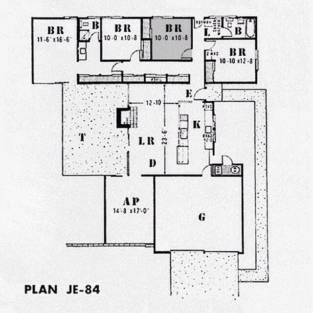 17 Best Images About Eichler Floorplans On Pinterest