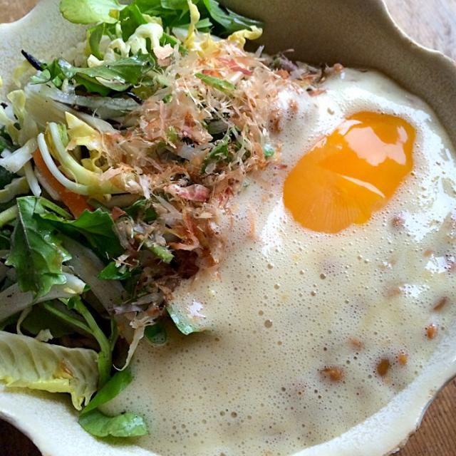 納豆蕎麦サラダに‼︎(笑)病み付きになってます♬ - 83件のもぐもぐ - 納豆卵かけからの変化球‼︎(笑) by giacometti1901