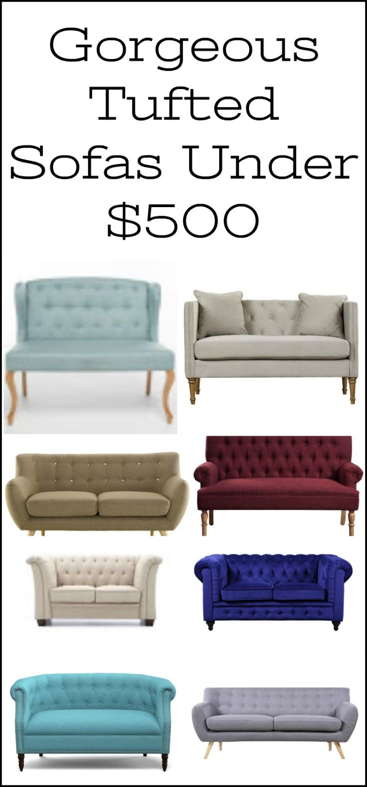 Gorgeous Affordable Sofas Tufted Sofas Settees Loveseats