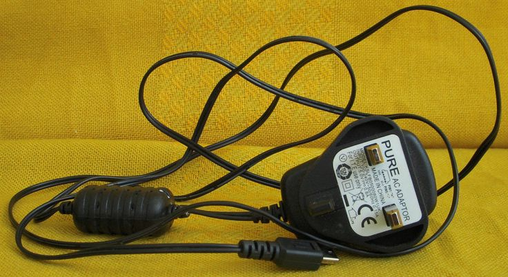 Pure AC Adapter - KSLFB0500080W1UK - For 5V Pure DAB Radio - Radio NOT included!