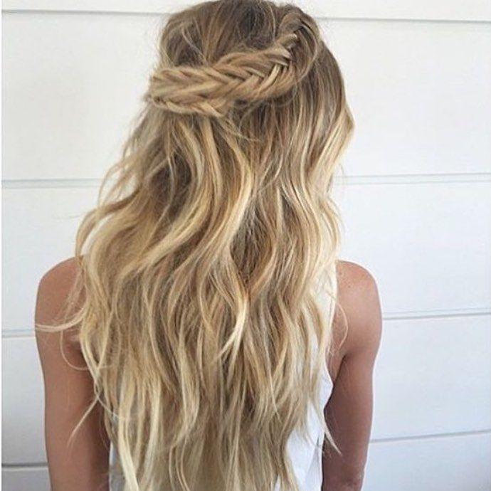 Blonde Rad Pelo Hair Hair Styles Boho Wedding Hair