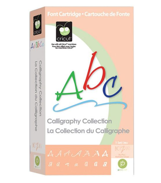Cricut Calligraphy Collection Cartridge Crafts Fonts