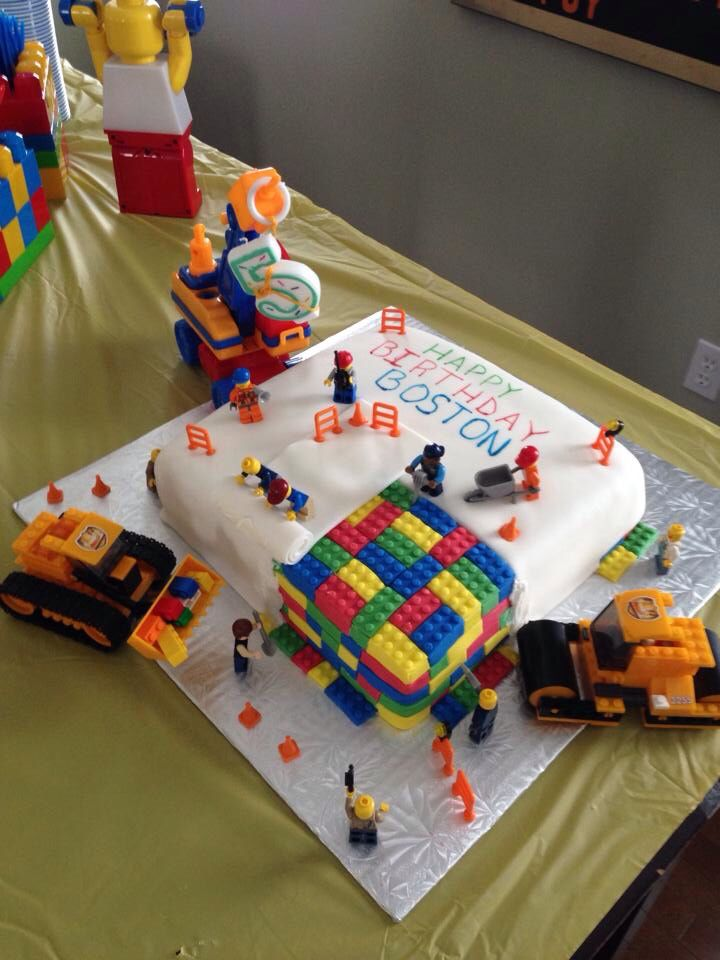 Lego party - construction cake