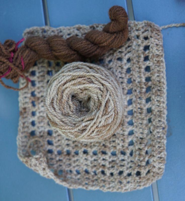 Teinture à la feuille de noyer - Blog Céline tricote, crochète, coud et cie