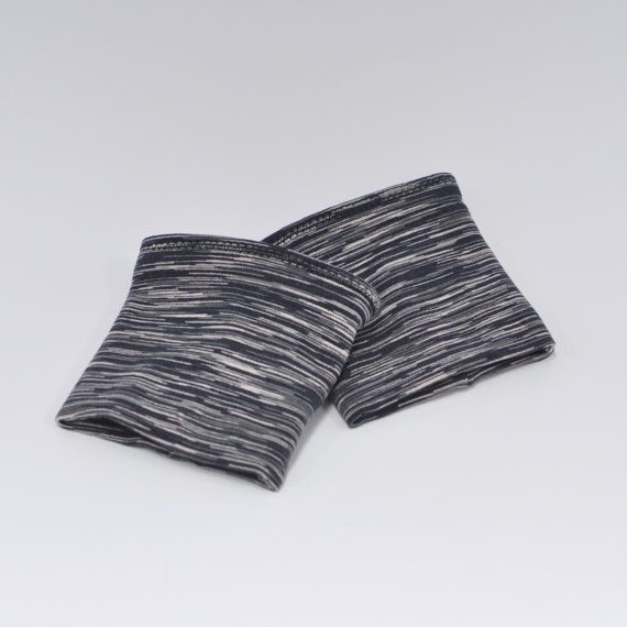 Woman's black wristbands sweat wristbands by SusySewandSew on Etsy