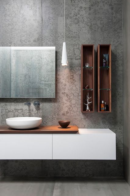 Minosa Design: Main Bathroom meets Powder Room with stunning result