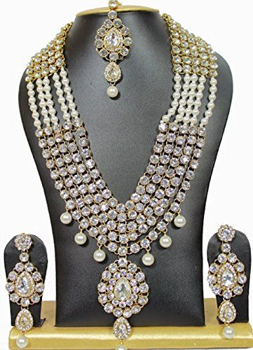 Indian Bollywood Style White Pearls Stone Kundan Cz Gold ... https://www.amazon.ca/dp/B01M1R3FUL/ref=cm_sw_r_pi_dp_x_zm6WybJ465CVV