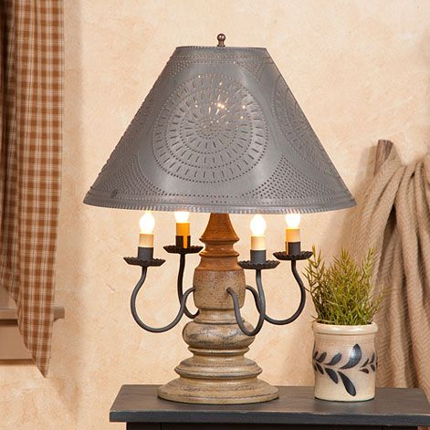 Harrison lamp in americana colors by irvins country tinware primitive